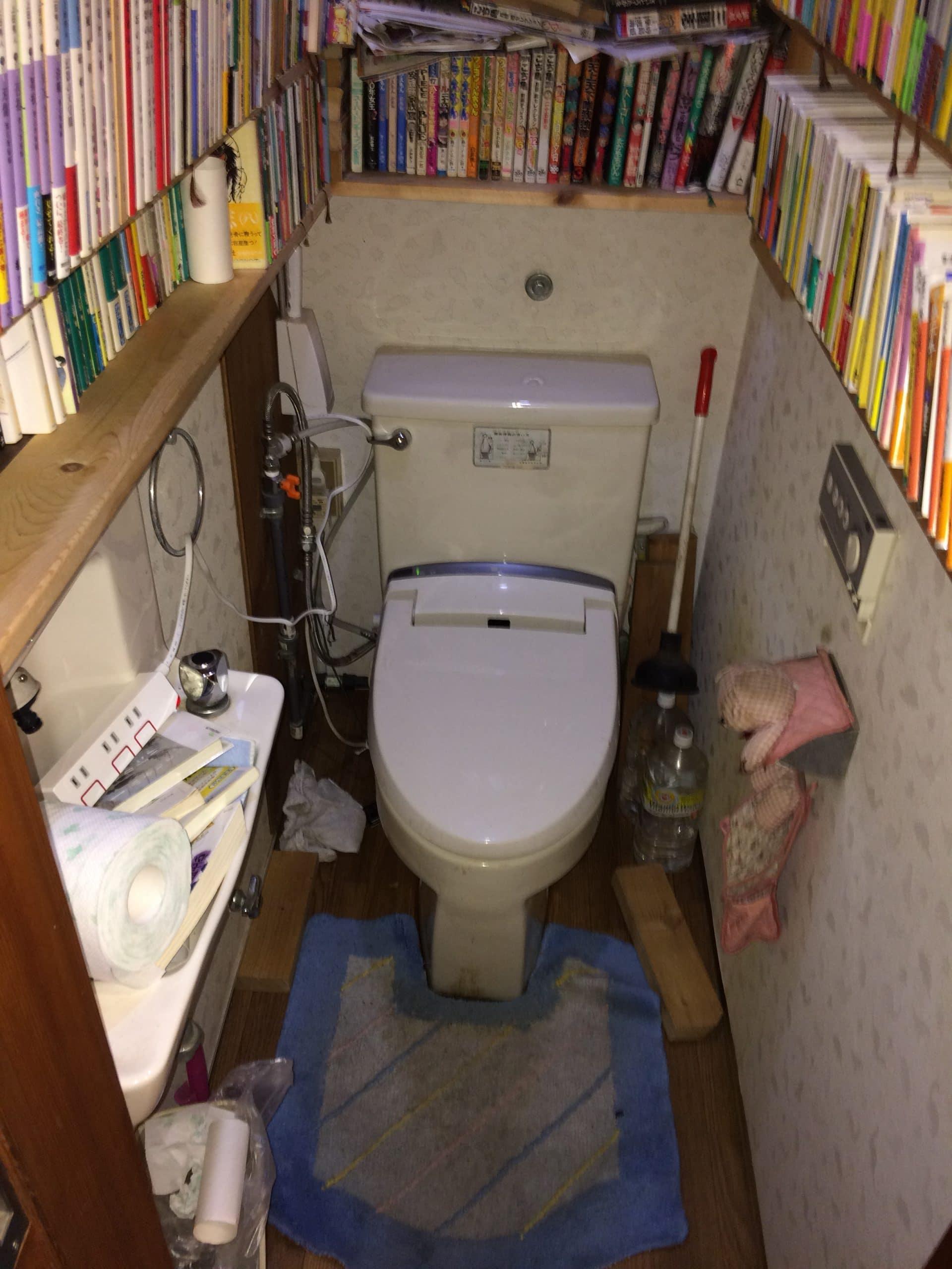 トイレ本体交換(LIXIL アメージュZ)+床下地やり直し 施工前
