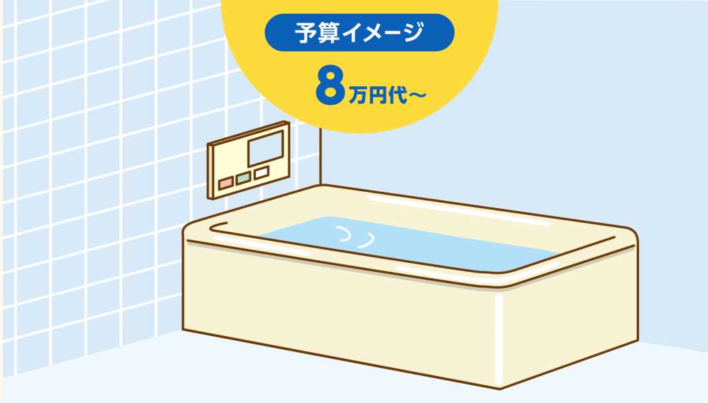 浴槽だけのリフォーム(小規模リフォーム)の予算目安